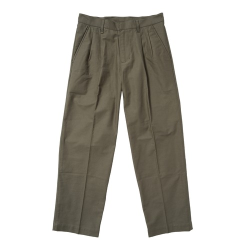PLEATED WORK PANT(OLIVE)[TH8A-081]