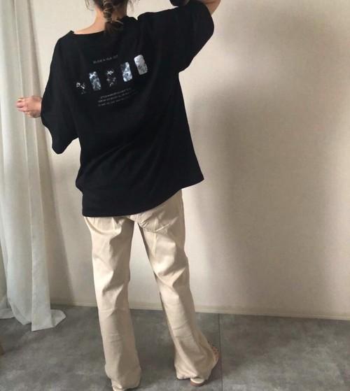 【black】BACKロゴT