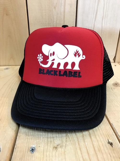 【クリックポスト200-対応】BLACK LABEL(ブラックレーベル,キャップ)ELEPHANT REDxBLACK