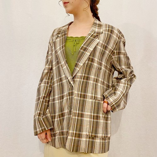 (LOOK) check tailored jacket