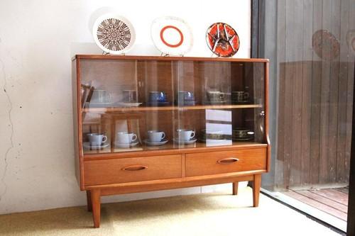 60年代 ヴィンテージ イギリス Jentique製 本棚 食器棚 サイドボード