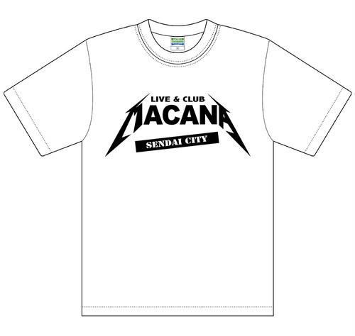【受注生産】MACANAロゴT-SHIRT【ホワイト】