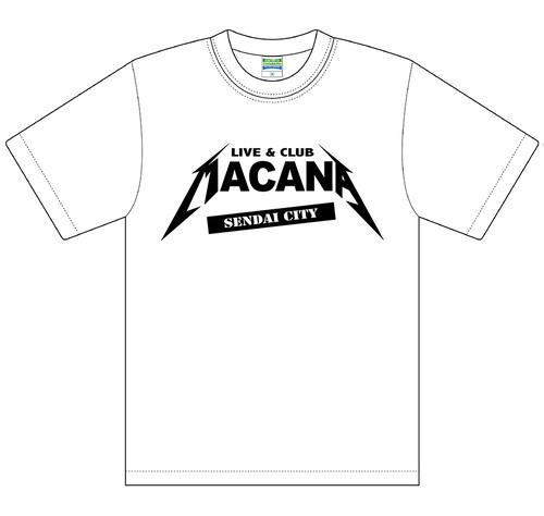 MACANAロゴT-SHIRT【ホワイト】受注生産