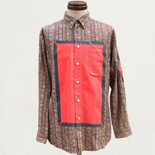 RE1012: SQUARE PRINT SHIRT
