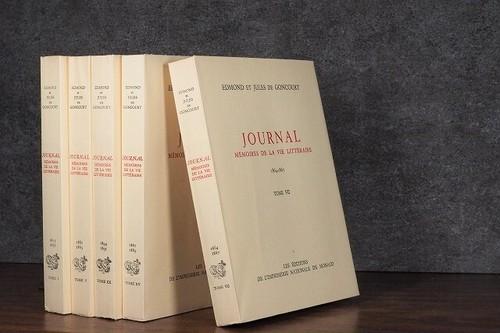 【DC1085】 JOURNAL MEMOIRES DE LA VIE LITTERAIRE -5set- / display book