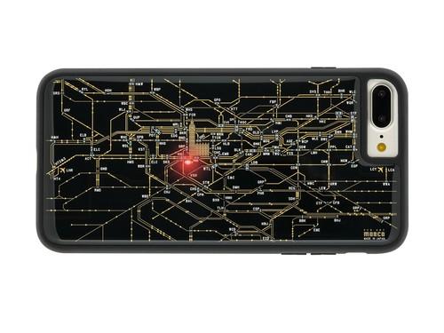 FLASH London回路線図 iPhone7/8Plus ケース 黒【東京回路線図A5クリアファイルをプレゼント】