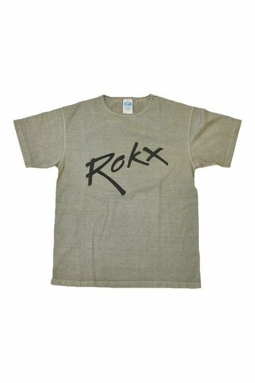 Rokx the ROKX Tee ピグメントダイ プリントTシャツ