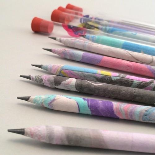 デザイン雑貨 Marbling Art Paper Pencil