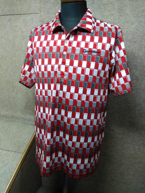 テーラーメイド ポロシャツ メンズ L 赤系 ゴルフ my683e