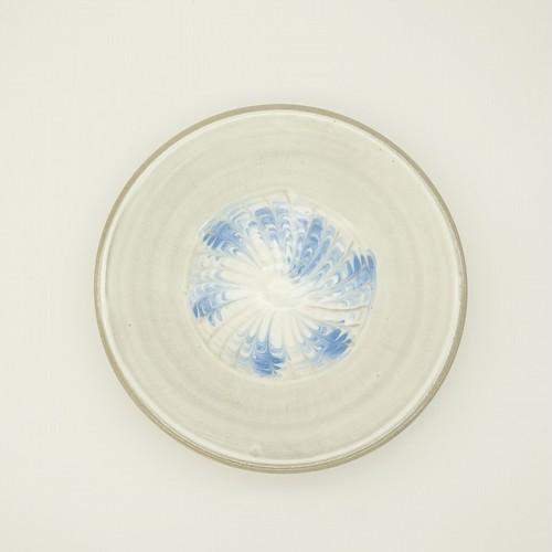 スリップウェア 6寸皿【唐仙窯】