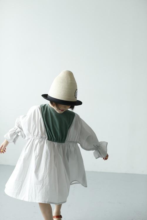 noble dress  グリーン×グレー Sサイズ
