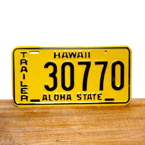 Hawaii license plates / 1969 / 30770