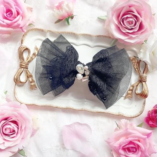 【9/20(日)21時より出品/1点限定】dress ribbon♡バレッタ