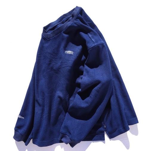 2000's [UMBRO] フリースプルオーバー ネイビー 表記(XL) アンブロ