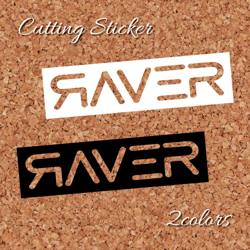 RAVER logo cutting sticker