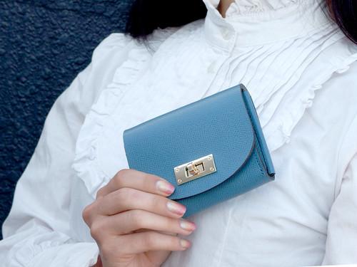 身軽にキメたい時のコンパクト財布|T式パーティーレザー・ターコイズ