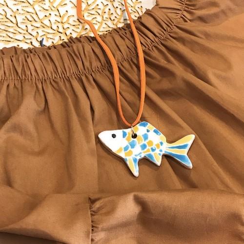 スペインタイル ペンダント 魚