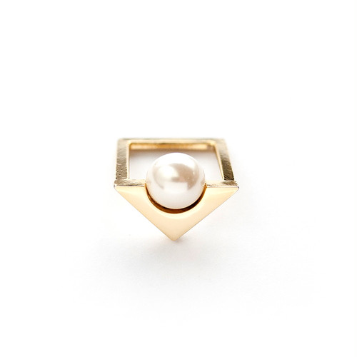 TRIANGLE RING/GOLD