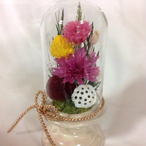 仏花  ガラスドーム