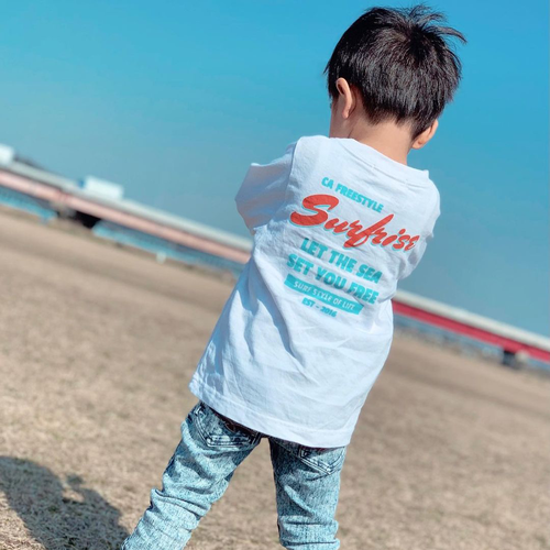 ★Kids★ SET YOU FREE L/S Tee - White
