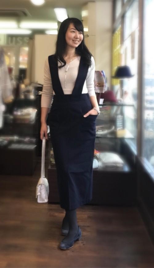 再入荷♫SUGAR ROSEバックベルトデザインジャンパースカート