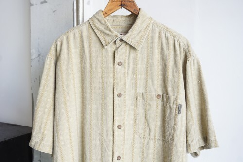 late 90's WOOLRICH embroidery check cotton s/s Shirt