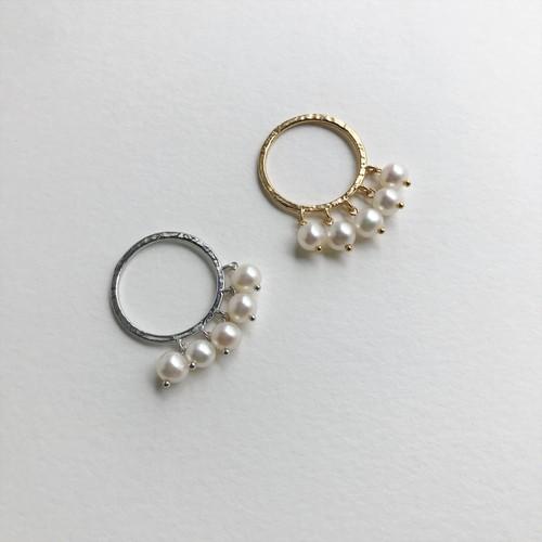 ジャラジャラパールリング(silver色)