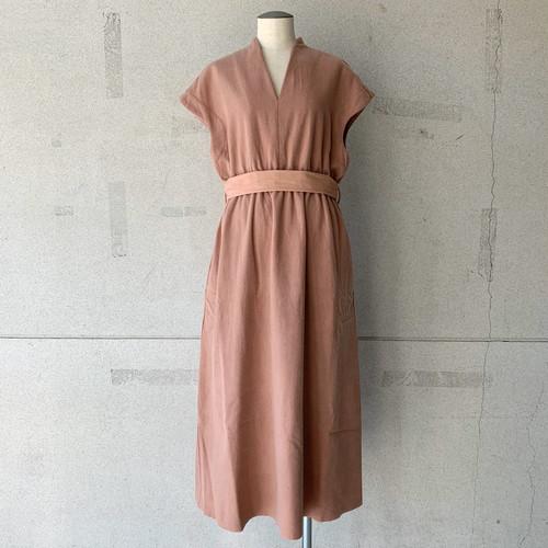 【COSMIC WONDER】Beautiful Mud dyed wool v-necked dress/12CW17234