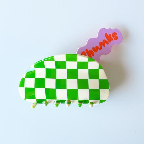 """Chunks """"Large Claw"""" Glossy Greenチャンクス バンスクリップ・ヘアピン"""