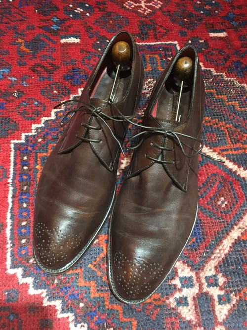 .SILVANO SASSETTI LEATHER BROGUE SHOES MADE IN ITALY/シルヴァノサセッティレザーブローグシューズ 2000000032276