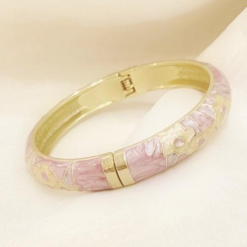 """vintage bangle """"pink flower"""""""