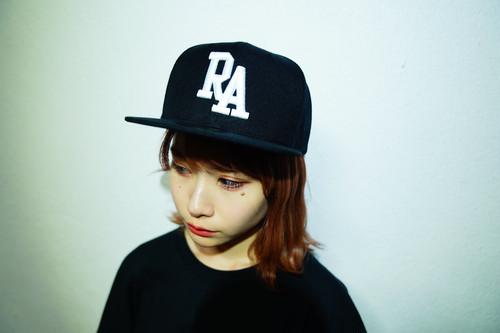 "Rakugaki 2020 ""RA"" Logo Snap Back Cap Black Free Size"