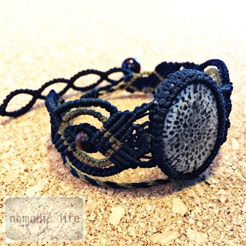 Fossil Coral Bracelet//No.107