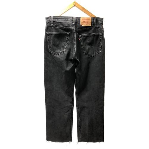 "90's ""LEVI'S / 505"" CUT OFF BLACK DENIM PANTS"