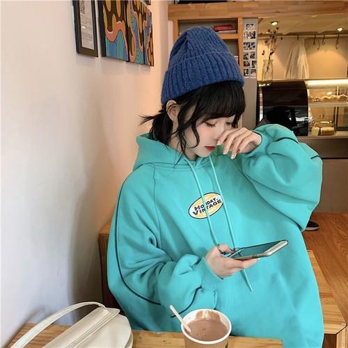 ホリデイビンテージ起毛フーディー フーディー フードトレーナー  韓国ファッション
