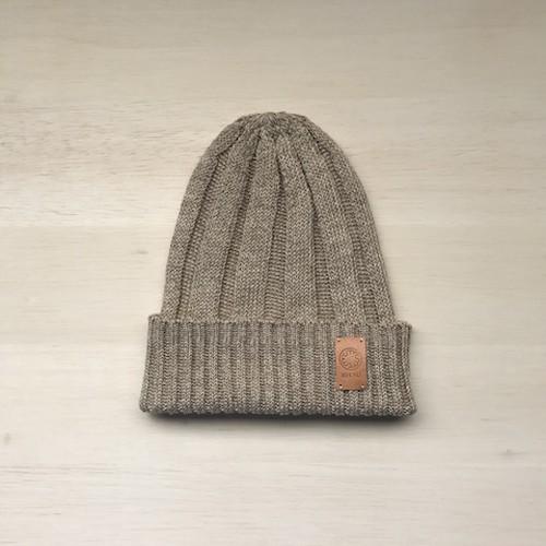 フレンチリネンニット帽 ビスケット