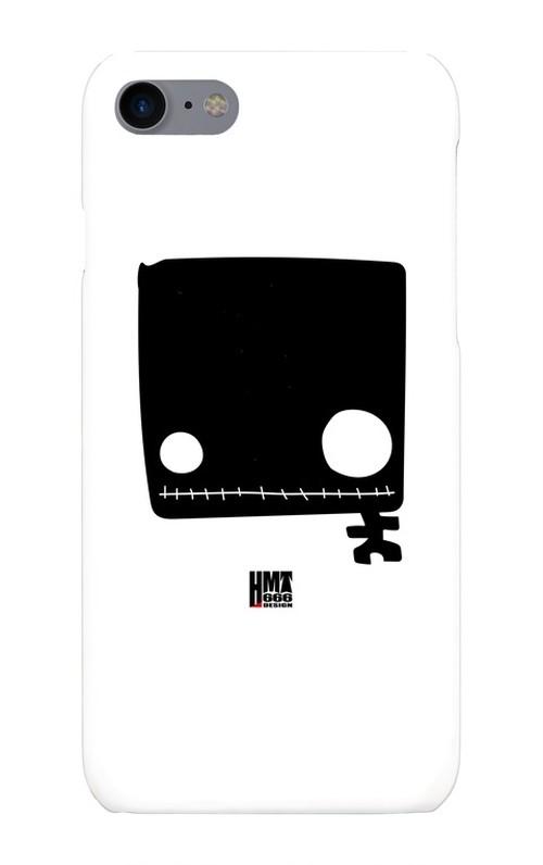 四角い黒ドクロTシャツ iphone7・8ケース