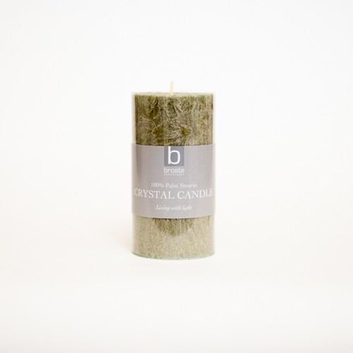 crystal pillar candle linen