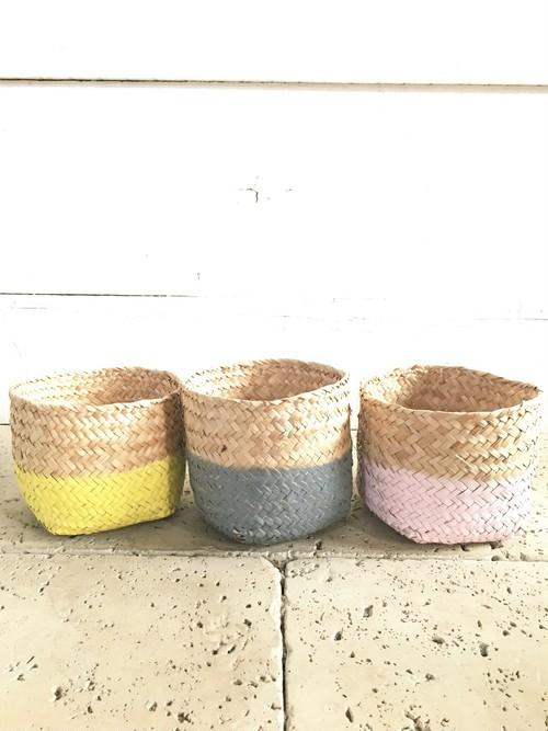 【SALE!】3色セット ジュート鉢カバー(イエロー/グレー/ピンク) ※4号鉢サイズ