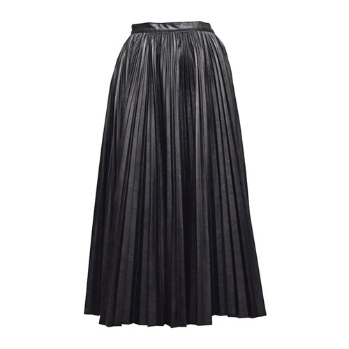 MURRAL / レザープリーツスカート / Black