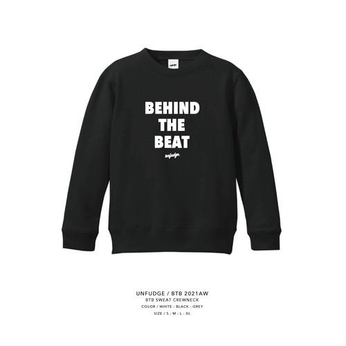 unfudge SWEAT CREW NECK / BTB /  BLACK(予約商品)