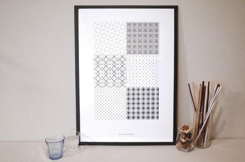 幾何学模様 ポスター02【geo-graphics】