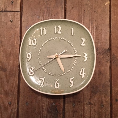 GE Ceramic Clock Designed by Russel Wright