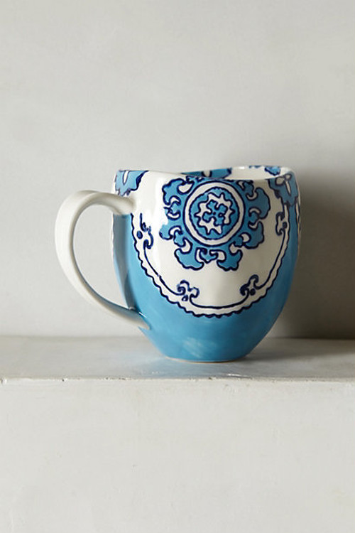 ANTHROPOLOGIE // Gloriosa Mug -blue