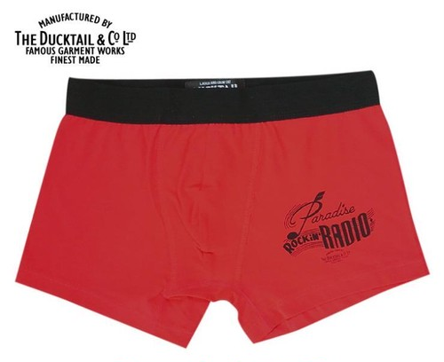 """DUCKTAIL CLOTHING """"PARADISE BOXERS"""" RED ダックテイル クロージング ボクサーパンツ"""