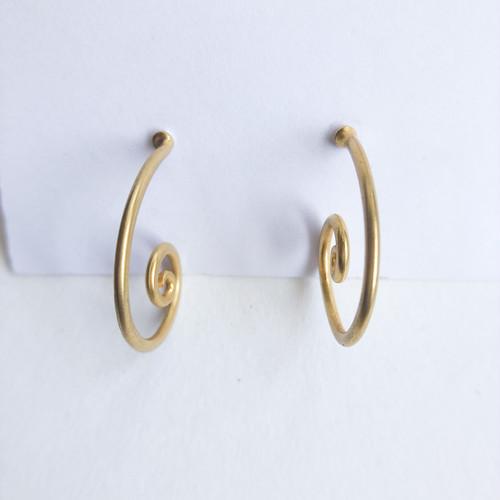 design hoop pierce[p-735] ヴィンテージピアス