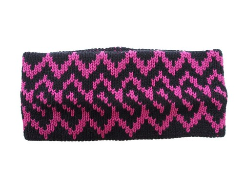 "COTTON HAIR BAND ""NORDIC"" BLACK×PINK  16AW-FS-60"