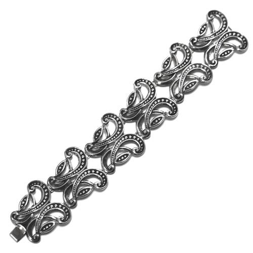 Vintage Sterling Silver Mexican Papillon Bracelet