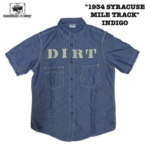 """1934 SYRACUSE MILE TRACK"" INDIGO FREEWHEELERS/フリーホイーラーズ THE IRONALL FACTORIES CO. Lot 1923020 シャツ"