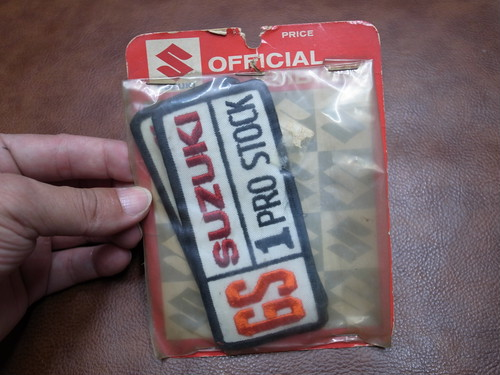 GS SUZUKI 1 PRO STOCK OFFICIAL EMBLEM Vintage Patch
